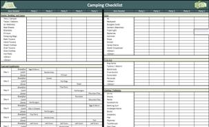 boys scout camping checklist
