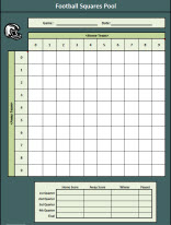 Super Bowl Squares Excel Template football squares pool template