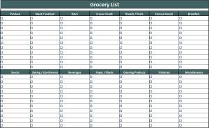 Click here to download our FREE Blank Grocery List